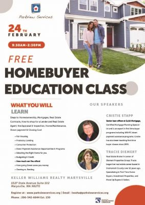 Snohomish County Homebuyer Education Course @ Keller Williams Realty Marysville